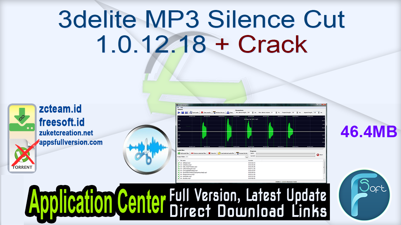 3delite MP3 Silence Cut Crack 3.4.5.3505 with Full Key Latest Free